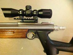 Customized crosman pistol.