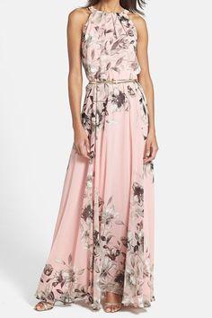 Fashionable Round Collar Sleeveless Floral Print Women's Maxi Dress Maxi Dresses | RoseGal.com