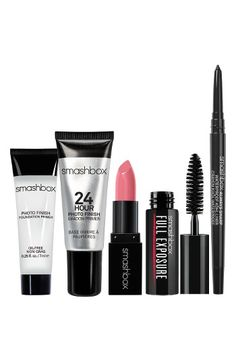 Free shipping and returns on Smashbox Try It Kit ($63 Value) at Nordstrom.com. What it is: This kit is packed with Smashbox superstars for your face, eyes and lips in irresistible try-me sizes.Kit includes:- Photo Finish Foundation Primer (0.25 oz.): a silky, lightweight primer with its blend of vitamins A and E, grapeseed extract and green tea diffuses the light hitting skin to blur out imperfections for an even, soft-focus look.- 24 Hour Photo Finish Shadow Primer (0.14 oz.): a shadow…