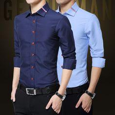 Plus Size 5XL 2016 New Fashion Mens Casual Shirts Long Sleeve Shirt Cotton Turn Down Collar Blouse Men Clothing for Men
