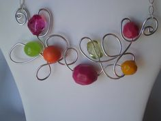 Fun Free Form Wire Necklace by DesignswithDazzle on Etsy, $28.00