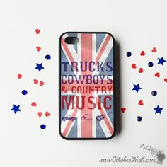 Trucks, Cowboys & Country Music UK Phone Case.