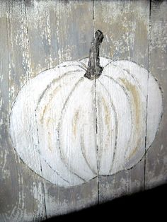 Lake Girl Paints: How to paint your own Rustic White Pumpkin Art