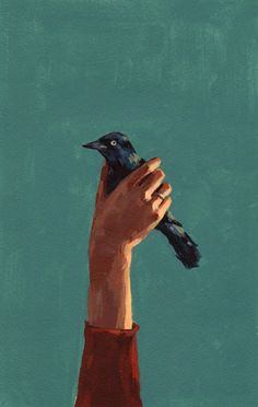 Bird in Hand . giclee art print of original by tastesorangey, $15.00 I want this!