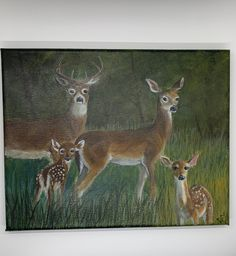 Deer in the Woods Small Painting | Etsy