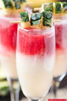 "Strawberry ""Lava Flow"" Pina Colada -  Swanky Recipes"