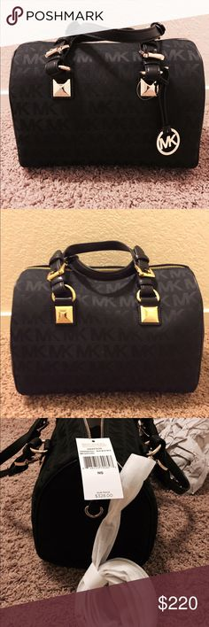 Michael kors black Greyson. Nwt. Has a crossbody strap. Is brand new never used. Still has tag. MICHAEL Michael Kors Bags Satchels