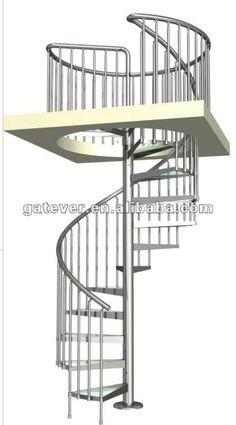 stainless steel spiral stairs $2200~$3950 Circle Stairs, Round Stairs, Stair Plan, Backyard Renovations, Townhouse Designs, Steel Stairs, Beach House Plans, Stair Handrail, Spanish House