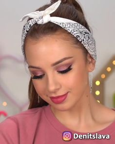 Products Used: 💕 Lane Orr Enchanted eyeshadow palette - off with discount code Denitslava Makeup, Makeup Eye Looks, Eyeshadow Looks, Pretty Makeup, Eyeshadow Palette, Beauty Makeup, Huda Beauty, Flawless Face Makeup, Makeup Tricks