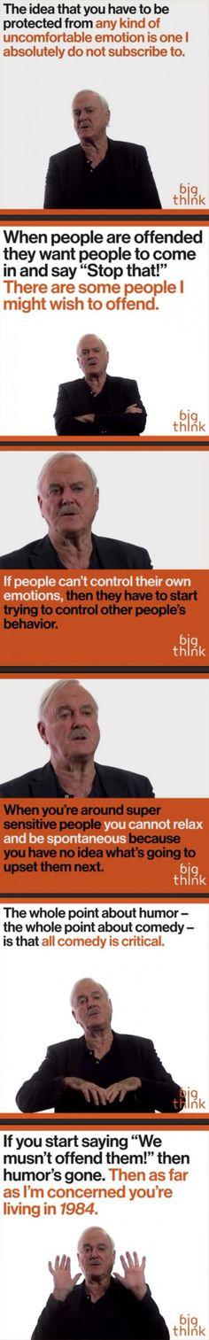 Offending people: John Cleese dump