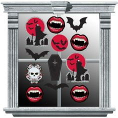 Vampire Window Decorations - Party City AND