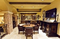 like the table and buffet for by the wine cellar