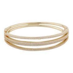 Clarissa Oval Bracelet Bangles, Bracelets, Plating, Brass, Gold, Jewelry, Jewlery, Jewerly, Schmuck