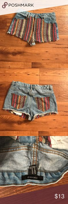 Festival shorts NOT URBAN!! ONLY TAGGED FOR EXPOSURE!! Colorful festival shorts!! Comfy fit, i am a size 27 but bought these in a 29! Fits just right. In great condition. F21 Urban Outfitters Shorts