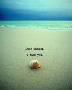 Dear Summer I Miss You Beach Quote Art Photograph door ModernBeach