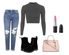 """"""""""" by dragonflymaria on Polyvore featuring Topshop, Dr. Martens and Michael Kors"""