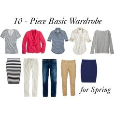 """Basics for Spring"" by bluehydrangea on Polyvore"