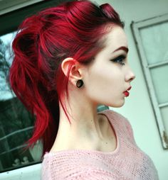 Love this color although I don't know if I could do it!