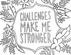 Growth Mindset Free Coloring Pages