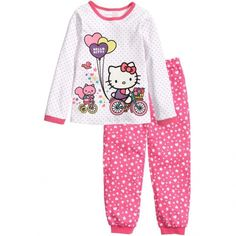 spring and autumn Children Cute Cartoon Baby Kids Girls Nightwear Pajamas Pyjamas Sleepwear Suit Childrens Pyjamas, Toddler Pajamas, Girls Pajamas, Pajama Outfits, Baby Outfits, Kids Outfits, Girls Sleepwear, Cotton Sleepwear, Boy And Girl Cartoon
