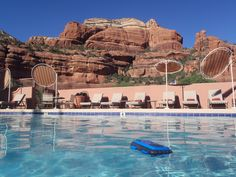 The view from the pool at the Enchantment Resort in Sedona, Arizona