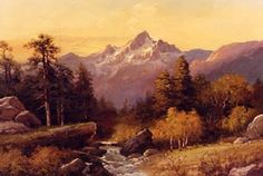 """Robert William Wood was an American landscape painter. He was born in England, emigrated to the United States and rose to prominence in the with the sales of millions of his color reproductions. (""""Grand Tetons"""" by Robert Wood) Robert Wood, Robert Williams, Artist At Work, Contemporary Artists, Wood Art, Painting & Drawing, Wood Paintings, Wyoming, 1950s"""