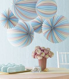 Love the colours in these seaside paper lanterns from Martha Stewart.