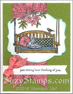 Stampin' Up! Cards -Sitting Here and Awesomely Artistic stamp sets