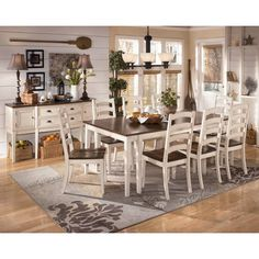 Ashley Furniture Manadell Rectangular Dining Room Table D512 25