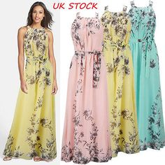 Womens maxi boho floral #summer #beach long skirt evening cocktail #party dress ,  View more on the LINK: 	http://www.zeppy.io/product/gb/2/231942066795/