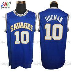 70e498ca312 2017 Dwayne Mens Dennis Rodman Basketball Jerseys Rodman 10 OKLAHOMA  SAVAGES College Basketball Jersey Stitched Shirts Blue-in Basketball Jerseys  from ...