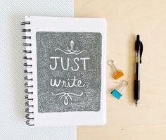 Writing Journal. Writing Notebook. Spiral Bound by FoxandWit, $14.00