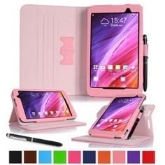 "roocase ASUS MeMO Pad 7 ME176CX Case - Dual View Multi-Angle Stand 7-Inch 7"" Tablet Smart Cover - PINK"