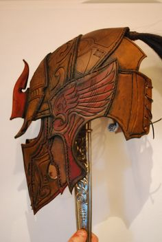 Elven helmet side view. Amazing