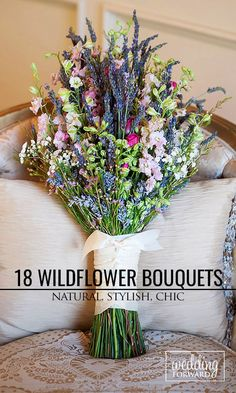 18 Wildflower Wedding Bouquets Not Just For The Country Wedding ❤ The natural beauty of wildflowers means you can use them for most wedding themes. See more: http://www.weddingforward.com/wildflower-wedding-bouquets/ #wedding #bouquet