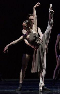 "Jurgita Dronina and Jozef Varga (Dutch National Ballet) performing Hans van Manen's ""Corps"" at Dance Open 2014. Photo by Stas Levshin"