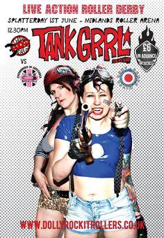 Tank Grrl #rollerderby #boutday #splatterday #tankgirl