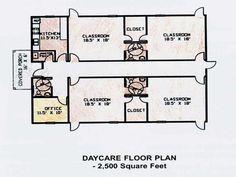 Community Center and Daycare Facility Daycare Rooms, Home Daycare, Daycare Ideas, School Ideas, Farmhouse Floor Plans, Farmhouse Flooring, Modern Farmhouse, Floor Plan Generator, Classroom Floor Plan