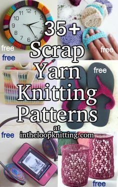 Knitting Patterns using scrap yarn