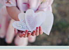 DIY Wedding Idea: Confetti Hearts