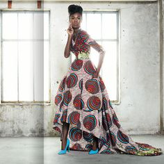 African Chic: Brazilian model, Samira Carvalho, get's funky groovy with Vlisco