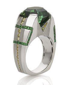 Regent Tourmaline Gents Ring - Mark Schneider Design...