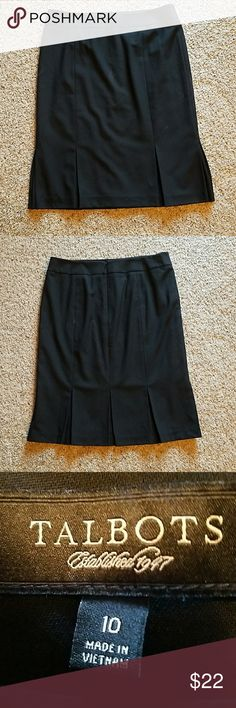 "Talbot's Black Pleated Skirt Size 10...EUC Waist 16.5"" Length 24.5"" Total of 7 pleats..... 2 front 2 side 3 back Talbots Skirts Midi"