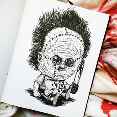 """""""Baby Terrors"""" – an Adorable Series Re-Imagining Famous Horror Characters as Babies by Alex Solis , http://itcolossal.com/baby-terrors/"""