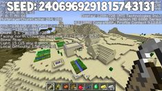 Minecraft Seeds - 6 Diamonds at spawn, 3 villages at spawn, 2 temples, 2 dungeons and stronghold at spawn.