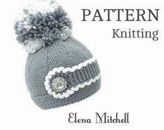 Knitting PATTERN Knitting Baby Hat Baby Patterns Knitted Baby