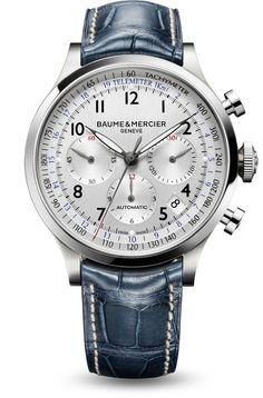 """Men watches: Baume et Mercier's """"Capeland"""" 10063 Swiss automatic chronograph watch for men. #luxury"""