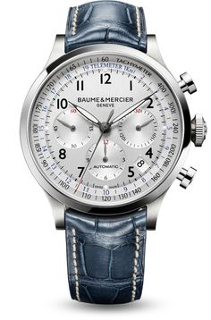 "Men watches:  Baume et Mercier's ""Capeland"" 10063 Swiss automatic chronograph watch for men. #luxury"