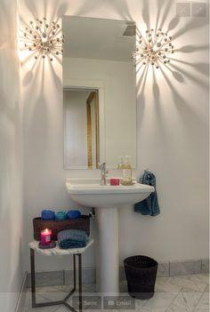 common bathroom - use lights as deco