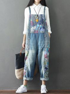 Details about Womens Dungarees Jeans BIB Overalls Slim Ripped Jumpsuit Romper Shorts Plus Size Casual Print Overall With Pocket Denim Plus Size Jeans Jumpsuit Romper For Women Plus Size Romper, Plus Size Jumpsuit, Plus Size Jeans, Denim Jumpsuit, Denim Overalls, Dungaree Jeans, Denim Pants, Cotton Jumpsuit, Trousers Women